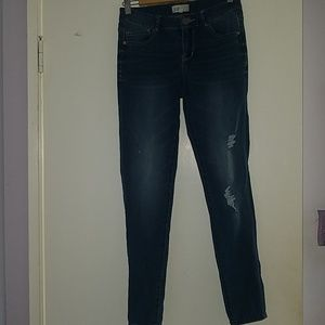 Mid Rise Dark Blue Jeans